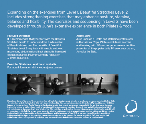Beautiful Stretches Level 2 DVD Back Cover